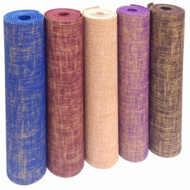NATURAL JUTE & RUBBER YOGA MAT 4mm