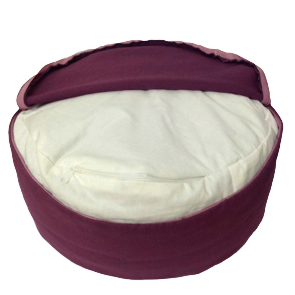 BUCKWHEAT HULL FILLED ZAFU MEDITATION CUSHION