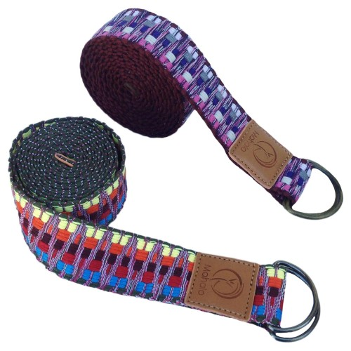 YOGA STRETCH STRAP - WOVEN COTTON