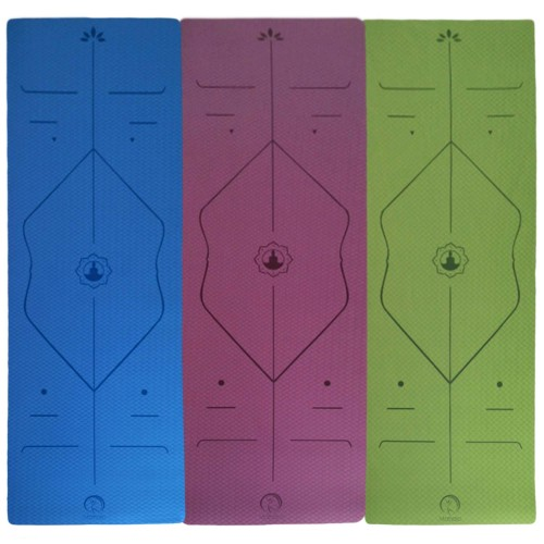 ECO TPE YOGA  ALIGNMENT MAT 6mm