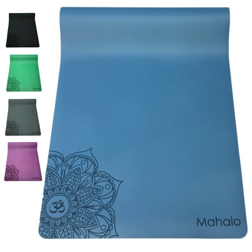 ECO NATURAL RUBBER OM YOGA MAT 5mm